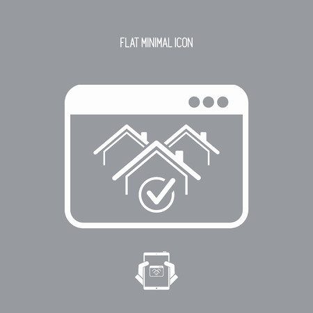 choise: Real estate website symbol - Vector icon of computer application