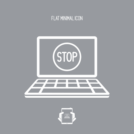 disagree: Stop signal - Vector icon for computer website or application