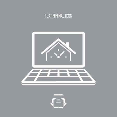 Last minute real estate internet promo - Vector icon for computer website or application Vetores