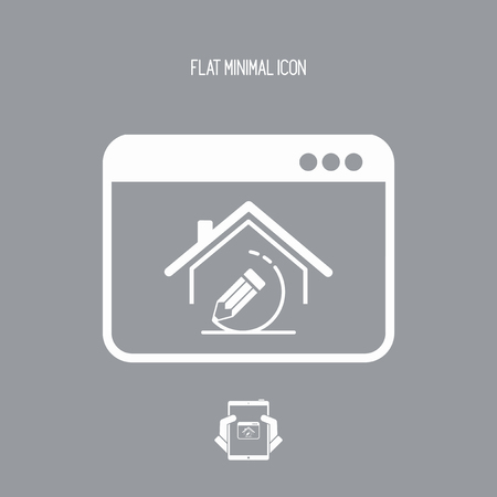 House design project - Vector icon of computer application 向量圖像