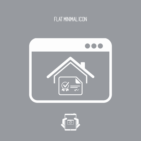 acquirement: House certificate - Vector icon for computer website or application