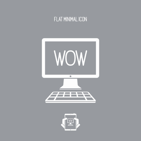 marvel: Wow exclamation - Vector icon for computer website or application