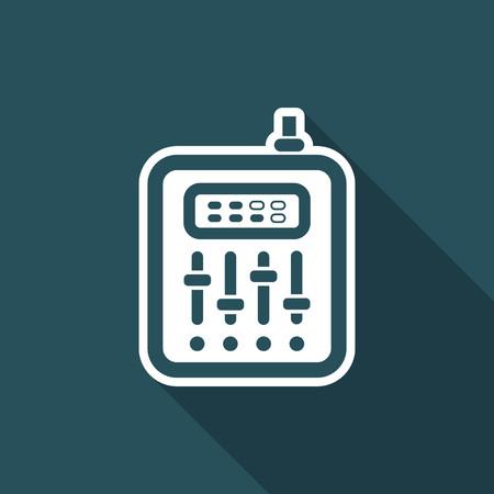 potentiometer: Vector illustration of audio mixer icon