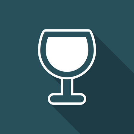 Vector illustration of single isolated glass icon