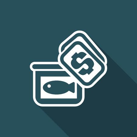 Vector illustration of single isolated market fish icon