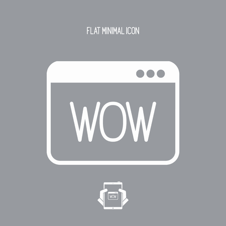 wonderment: Wow exclamation - Vector icon for computer website or application