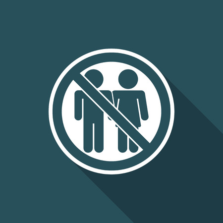 exclude: Vector illustration of access forbidden for partners icon single isolated concept