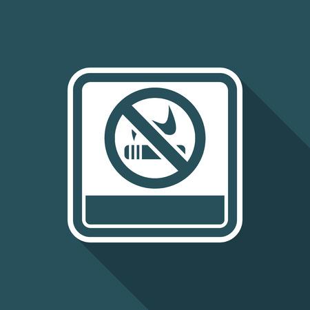 Illustration of single isolated no smoke icon.