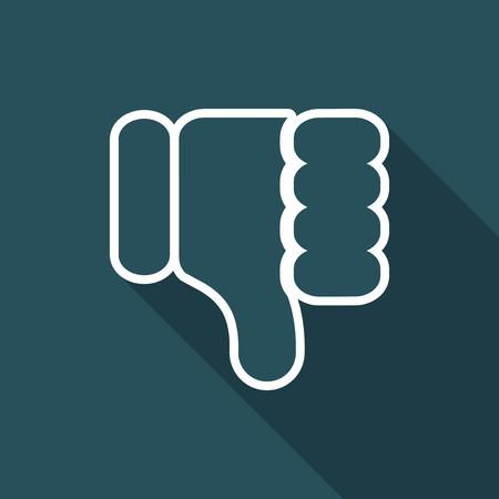 denial: Illustration of dislike icon.