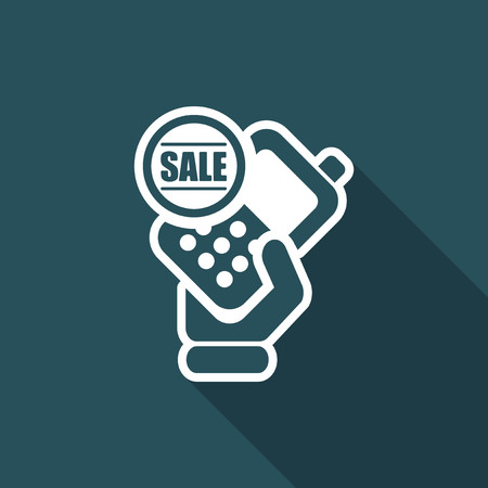 cellulare: Vector illustration of single isolated sale phone icon Illustration