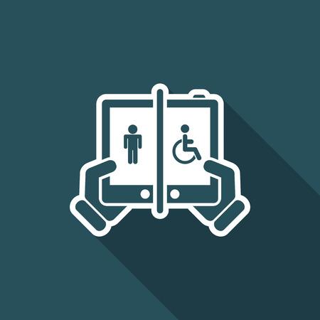Device for disabled illustration. Illustration