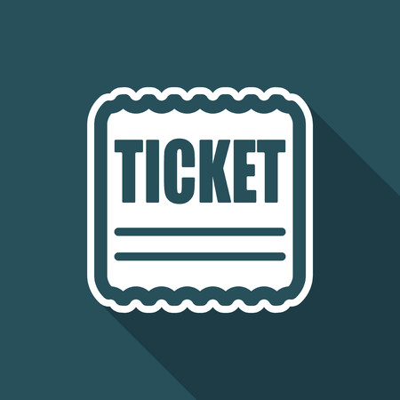 Vector illustration of single isolated tiket icon