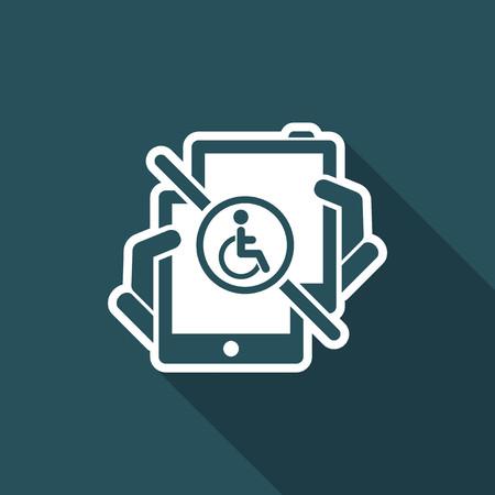 Handicap tablet connection. Illustration
