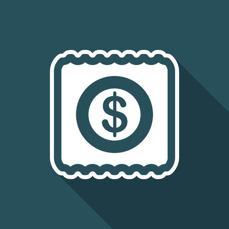 Illustration of single isolated pay icon.