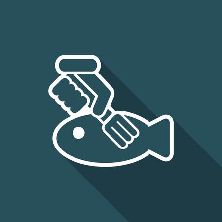 pitchfork: Fish eating icon.