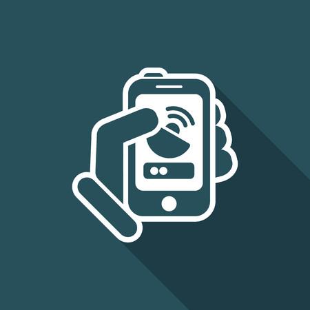 http: Antenna smartphone icon