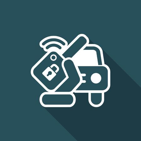 Car remote key icon.