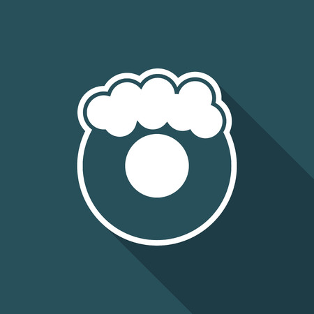 Illustration of single isolated donuts icon.