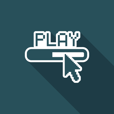 Illustration of single isolated play icon. Illustration
