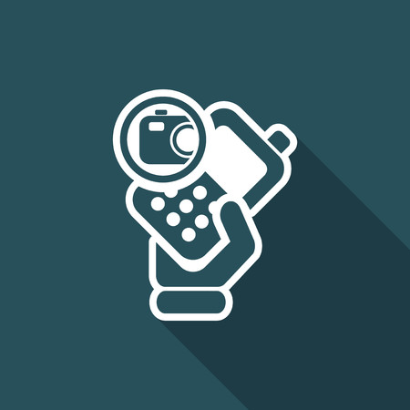 cellulare: Vector illustration of single isolated camera phone icon