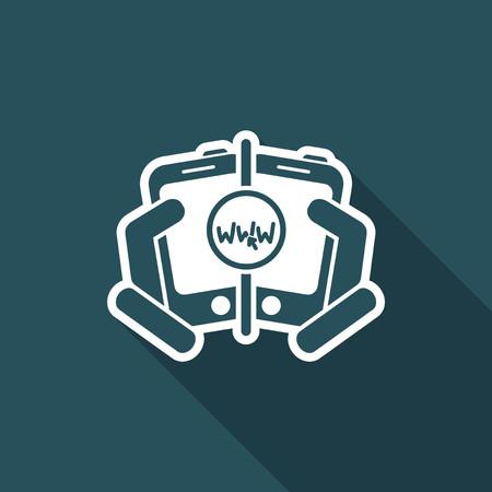 Web sharing illustration. Illustration