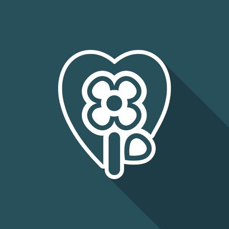 passion  ecology: Illustration of single isolated flower icon. Illustration