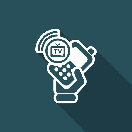 cellulare: Vector illustration of single isolated phone tv icon Illustration