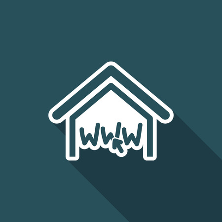 house for sale: Real estate website symbol Illustration