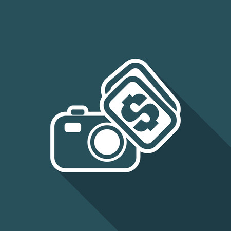 Vector illustration of single isolated buy or sell photo icon Illustration