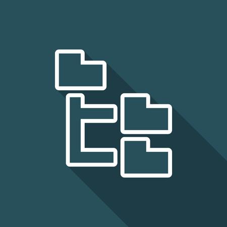 Illustration vectorielle de l'icône d'un pixel isolé