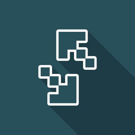 Vector illustration of pixel computer icon Ilustrace