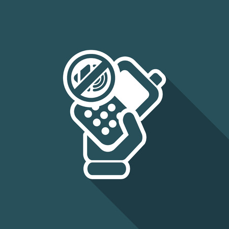 cellulare: Vector illustration of single isolated phone mute icon Illustration