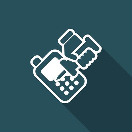Illustration vectorielle de l'icône de réparateur de téléphone isolé Banque d'images - 74681446