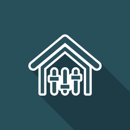 potentiometer: Vector illustration of single isolated house mixer icon