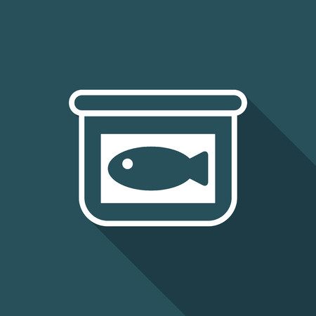 Vector illustration of single isolated fish icon