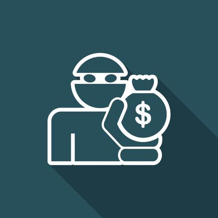 villain: Thief icon Illustration