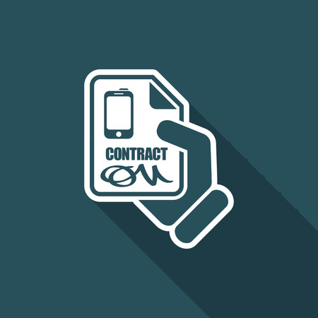 notarized: Smartphone contract Illustration