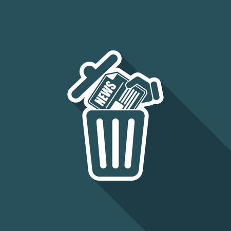 trashing: Trashing a news paper