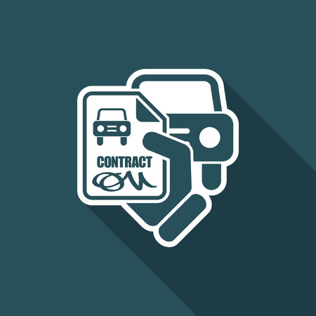 doctor money: Car contract icon Illustration