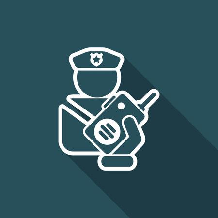 patrolman: Policeman radio