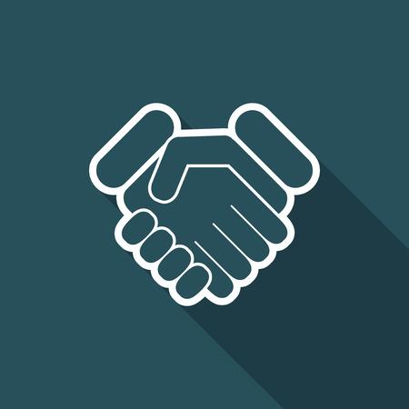 job satisfaction: Handshake icon Illustration