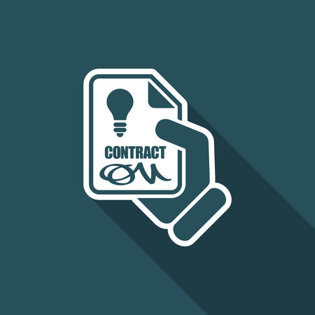 Contract for electricity service Illustration