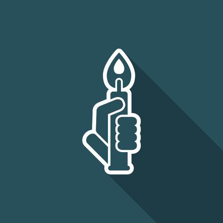 luminary: Candle icon Illustration