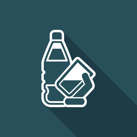 purified: Water bottle icon Illustration