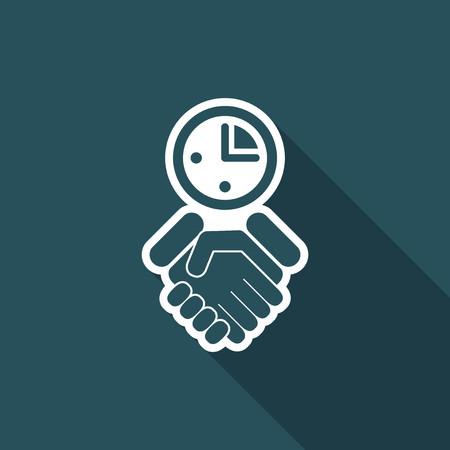 convenient: Agreement icon Illustration