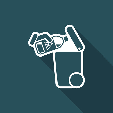 liquid x: Separate waste collection icon