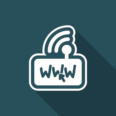http: Modem internet connection Illustration