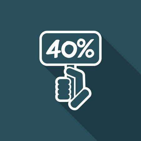 40: Discount label icon Illustration