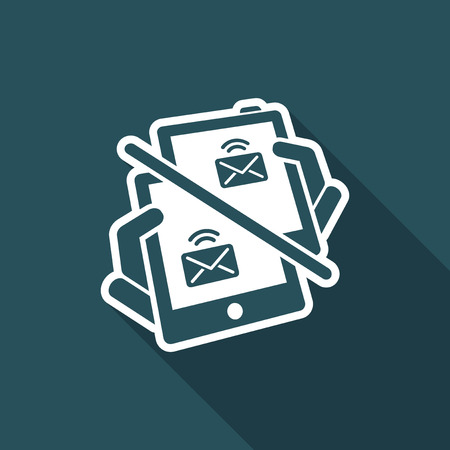 Web message icon Illustration