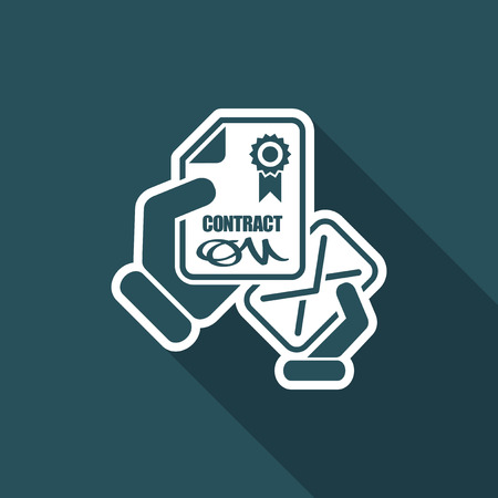 notarized: Contract icon Illustration
